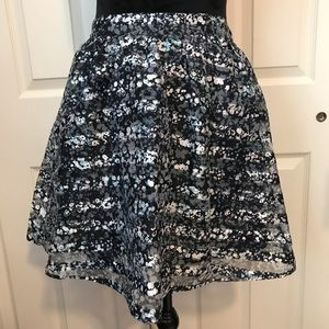Xhilirhation Navy and white striped skirt